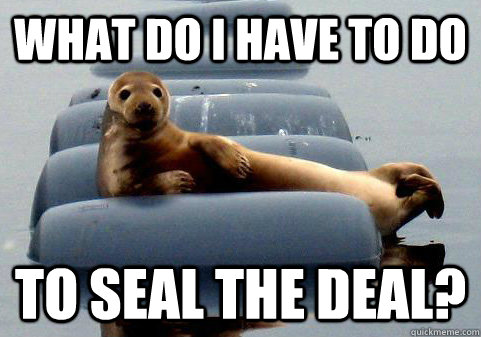 Image result for seal the deal funny