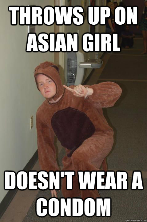 f93557385288647571b427867b2a3a7e0c47c8f1f14ee6a16fff5f7f3f138cb2 throws up on asian girl doesn't wear a condom raw dog ryan