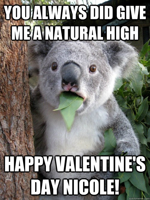 You Always Did Give Me A Natural High Happy Valentine S Day Nicole