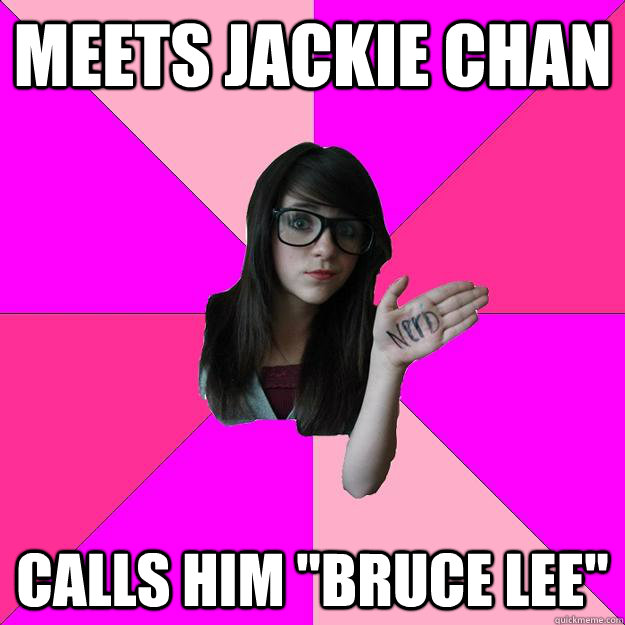 Meets jackie chan Calls him