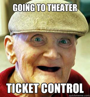 Going to theater ticket control