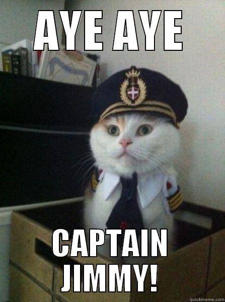 AYE AYE CAPTAIN JIMMY! Captain kitteh