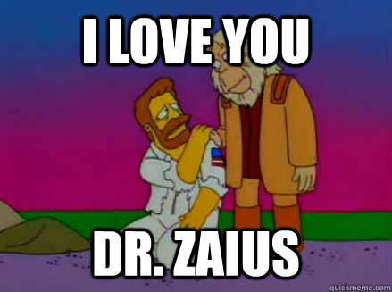 i love you dr. zaius - i love you dr. zaius  Most Underrated Simpsons Quote
