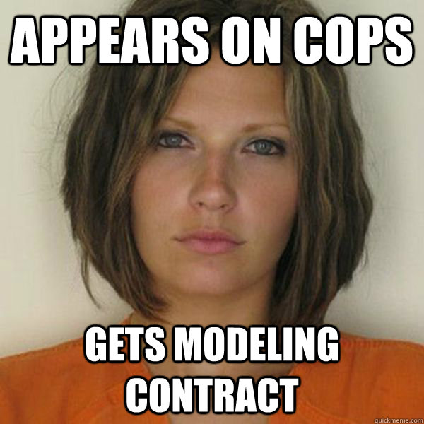 APPEARS ON COPS   GETS MODELING CONTRACT - APPEARS ON COPS   GETS MODELING CONTRACT  Attractive Convict