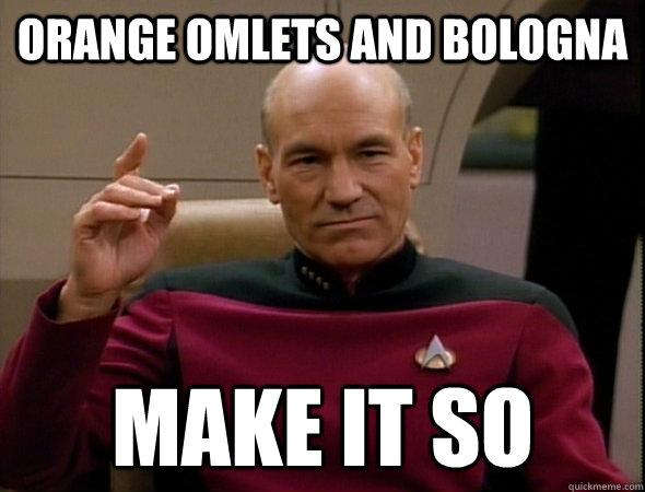 orange omlets and bologna make it so
