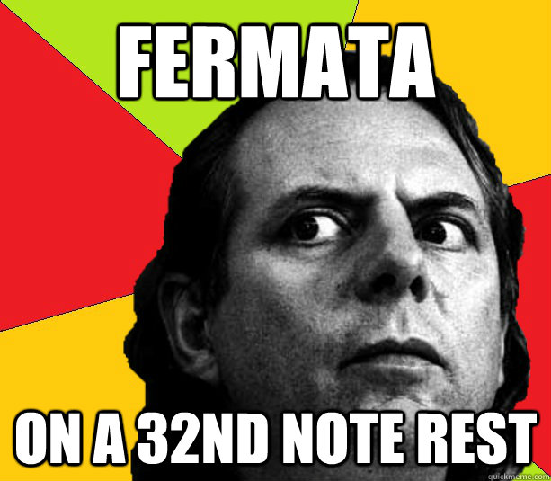 Fermata On a 32nd note rest