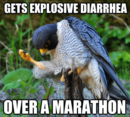 Gets explosive diarrhea  over a marathon