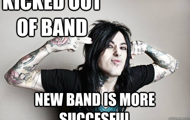 Kicked out of band new band is more succesful  Ronnie radke - caught like a fly falling in reverse