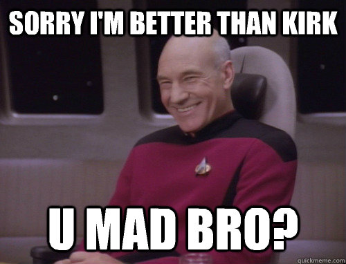 Sorry I'm better than kirk U mad bro?