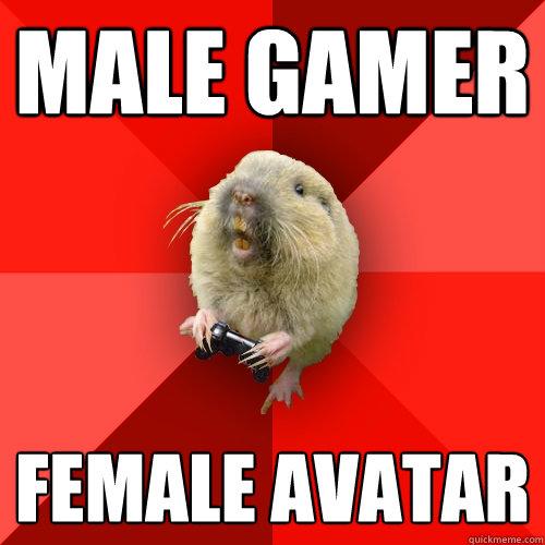 Male gamer Female avatar - Male gamer Female avatar  Gaming Gopher