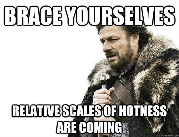 brace yourselves relative scales of hotness are coming
