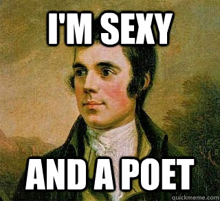 i'm sexy and a poet - i'm sexy and a poet  Robert Burns Sexy Poet