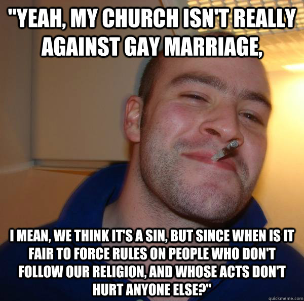 church against gay marriage reading