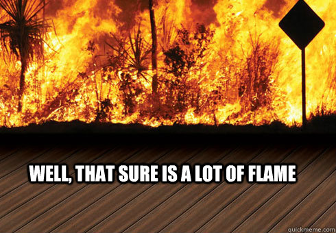 well, that sure is a lot of flame - well, that sure is a lot of flame  Misc