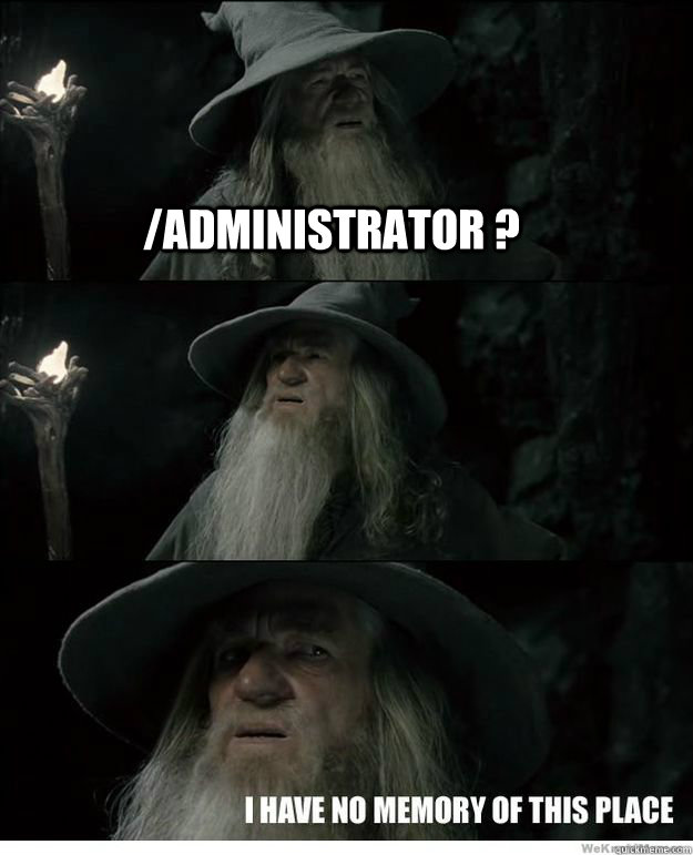 /administrator ?