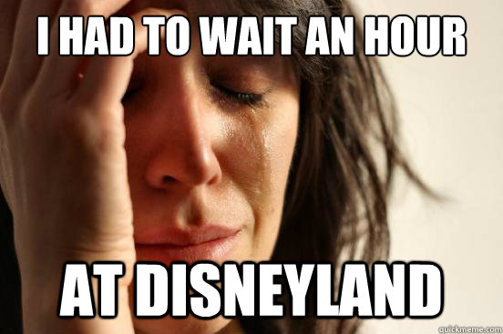 I Had to Wait an Hour At Disneyland - I Had to Wait an Hour At Disneyland  First World Problems
