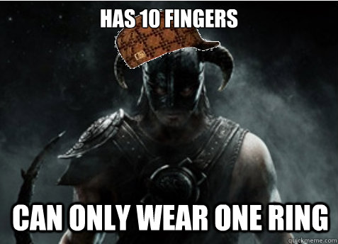 Has 10 fingers can only wear one ring