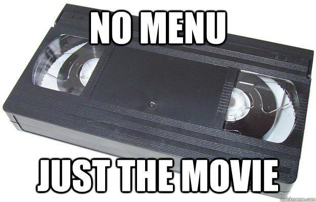 no menu just the movie - no menu just the movie  Good Guy VHS