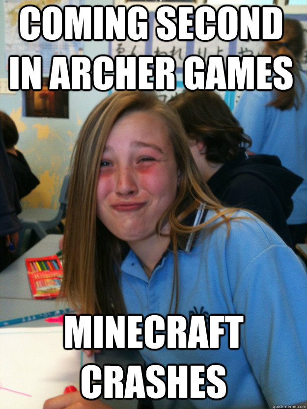 coming second in archer games minecraft crashes