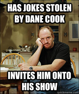 has jokes stolen by dane cook invites him onto his show