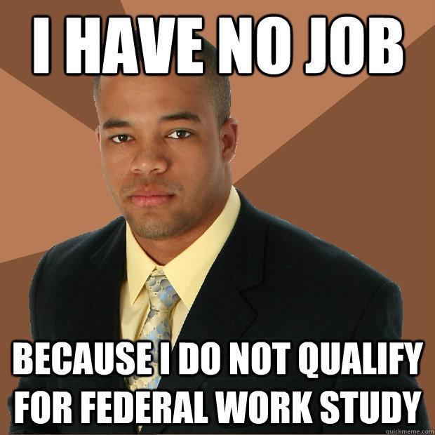 i have no job