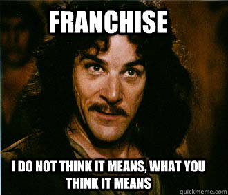 Franchise I do not think it means, what you think it means - Franchise I do not think it means, what you think it means  Princess Bride