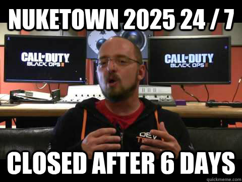 Nuketown 2025 24 / 7  Closed after 6 days - Nuketown 2025 24 / 7  Closed after 6 days  Scumbag David Vonderhaar