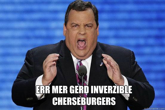 ERR MER GERD INVERZIBLE CHERSEBURGERS