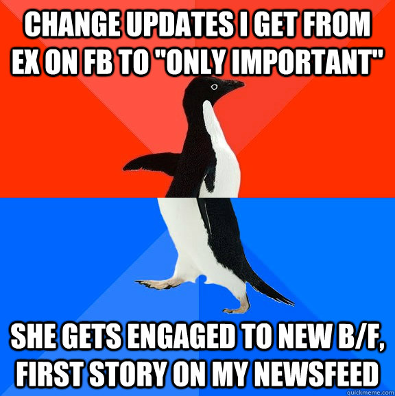 Change updates i get from ex on fb to