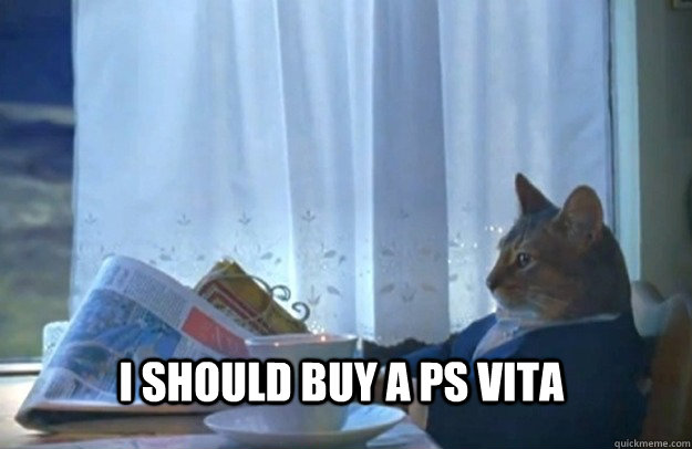 I should buy a PS vita - I should buy a PS vita  Sophisticated Cat