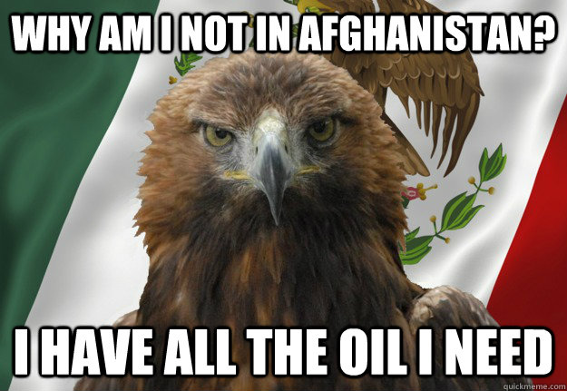 why am i not in afghanistan? i have all the oil i need