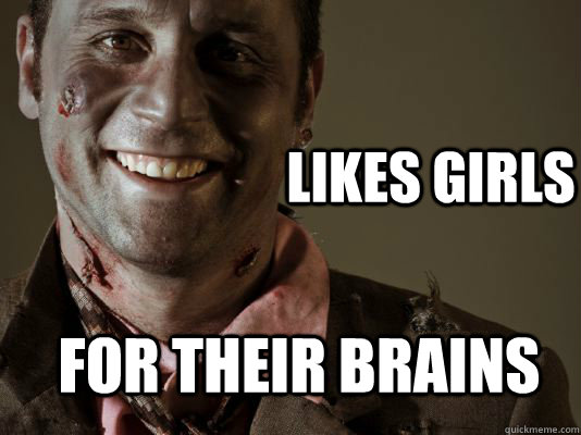Likes Girls For their Brains - Likes Girls For their Brains  Gentleman Zombie
