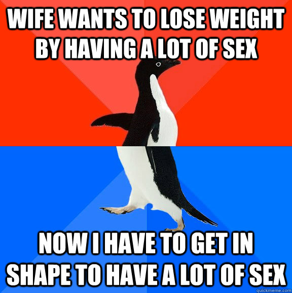 Having sex to lose weight