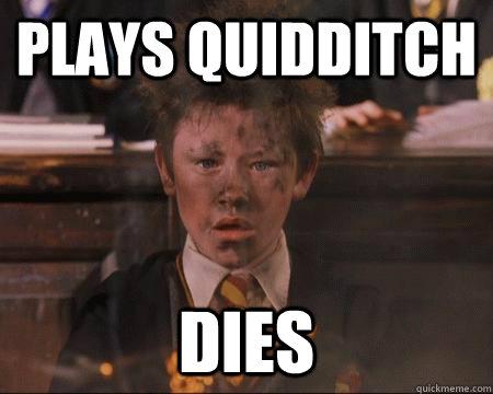 Plays Quidditch  Dies - Plays Quidditch  Dies  Hogwarts Freshman