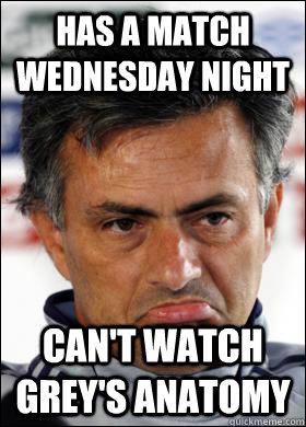 Has a Match Wednesday night Can't watch grey's anatomy
