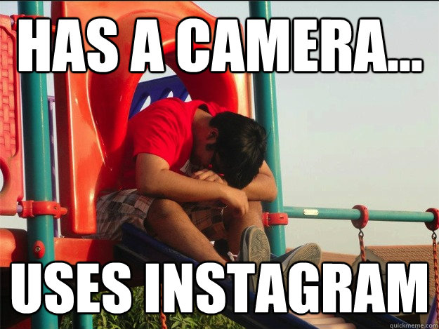 Has a camera... uses instagram