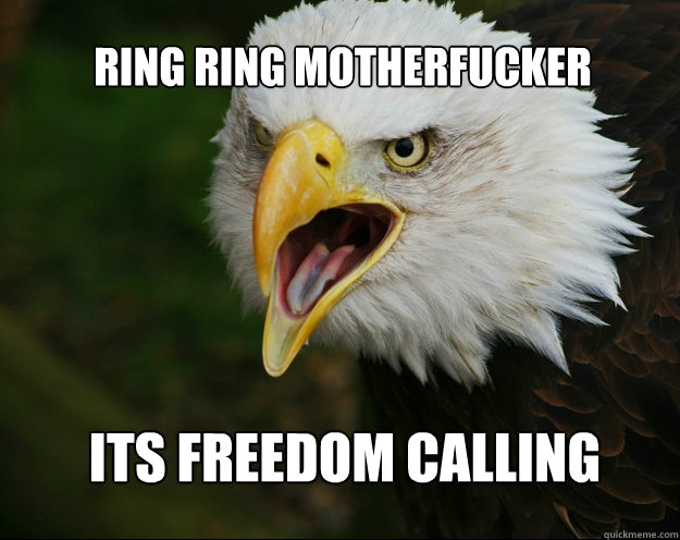 Ring RIng motherfucker Its freedom calling - Ring RIng motherfucker Its freedom calling  murica!