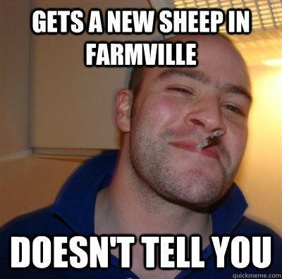 Gets a new sheep in farmville doesn't tell you - Gets a new sheep in farmville doesn't tell you  GGG plays SC