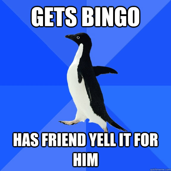 Gets bingo has friend yell it for him - Gets bingo has friend yell it for him  Misc