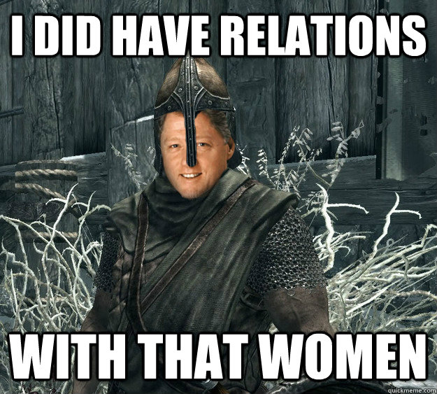 I did Have relations with that women