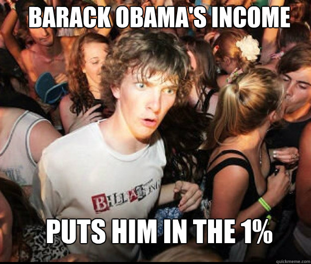 Barack Obama's income puts him in the 1%