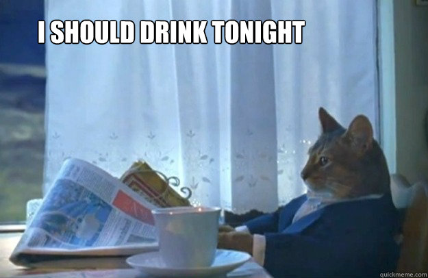 i should drink tonight - i should drink tonight  Sophisticated Cat