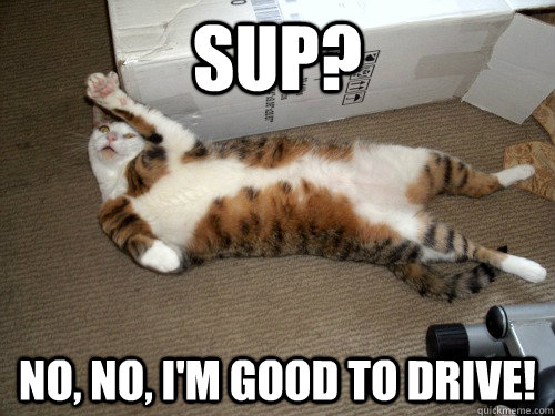 SUP? No, No, I'm good to drive!