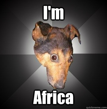 I'm Africa  Depression Dog