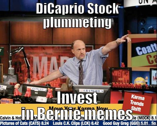 DICAPRIO STOCK PLUMMETING INVEST IN BERNIE MEMES Mad Karma with Jim Cramer