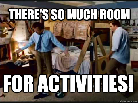 There's so much room for activities! - There's so much room for activities!  Step Brothers Bunk Beds