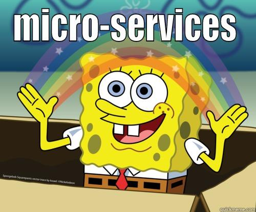 MICRO-SERVICES  Spongebob rainbow