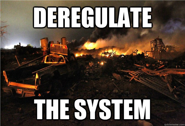 deregulate the system - deregulate the system  Misc