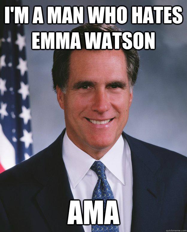 I'm a man who hates Emma Watson AMA