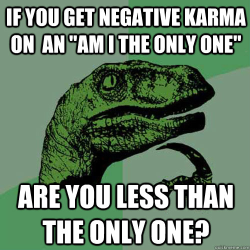 If you get negative karma on  an